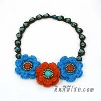สร้อยคอดอกไม้โครเชต์ 04-MIX03