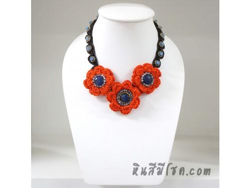 สร้อยคอดอกไม้โครเชต์ 04-MIX04