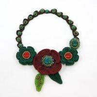 สร้อยคอดอกไม้โครเชต์ 06-MIX05