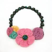 สร้อยคอดอกไม้โครเชต์ 08-MIX03