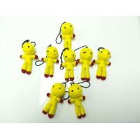 พวงกุญแจตุ๊กตาถักไหมพรม สีเหลือง 01