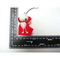 พวงกุญแจตุ๊กตาถักไหมพรม สีแดง 03