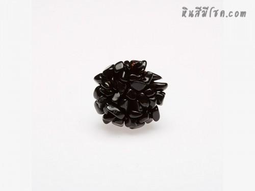 แหวนหินพุ่ม (สีดำ)