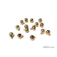 กระพรวน 6 มิล สีทอง (10 ชิ้น)