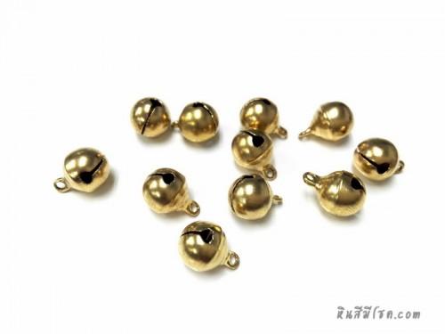 กระพรวน 10 มิล สีทอง (10 ชิ้น)
