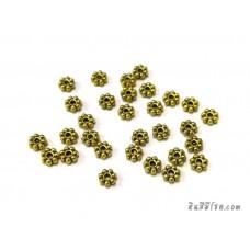 ตัวคั่นดอกไม้ 4 มิล สีทอง (30 ชิ้น)