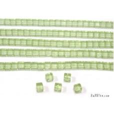 แท่งแก้วสี่เหลี่ยมจัสตุรัส สีเขียว