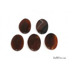 หินอาเกตรูปไข่ สีส้มเข้ม (1เม็ด)