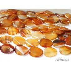 หินอาเกตรูปไข่ สีส้ม (1เม็ด)