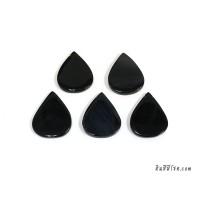หินอาเกตหยดน้ำ 30*40 มิล สีดำ (1เม็ด)