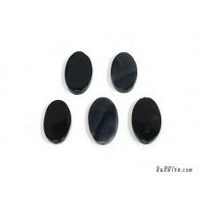 หินอาเกตรูปไข่ สีดำ (1เม็ด)
