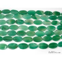 หินอาเกตรูปไข่ สีเขียว (1เม็ด)