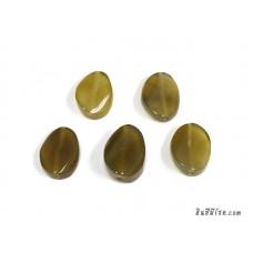 หินอาเกตรูปไข่ สีน้ำตาลอมเหลือง (1เม็ด)
