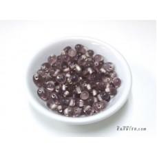 ลูกปัดแก้วทรงหยดน้ำ สีม่วง (20 กรัม)