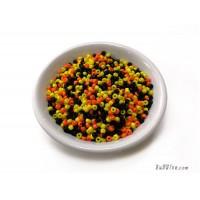 ลูกปัดกลม 2 มิล สีเหลืองดำส้ม (20 กรัม)