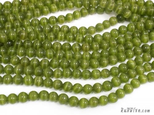 แก้วตาแมว 10 มิล สีเขียว