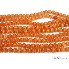 แก้วตาแมว 10 มิล สีส้ม