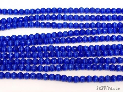 แก้วตาแมว 6 มิล สีน้ำเงิน