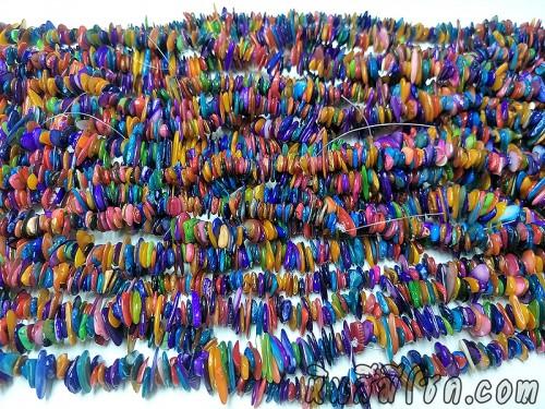 เปลือกหอยแตกหลากสี-โทนเข้มม่วง