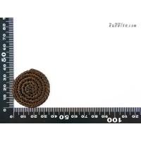 แป้นวงกลม 3.5 cm สีน้ำตาล