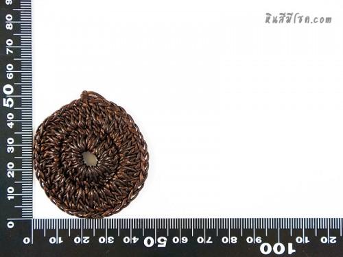 แป้นวงกลม 4.5 cm สีน้ำตาล1