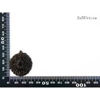 แป้นวงกลม มีรูตรงกลาง 3 cm สีน้ำตาล