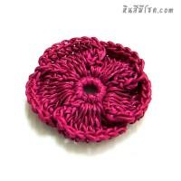 ดอกไม้ 5 กลีบ 5 cm สีบานเย็น