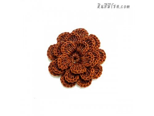 ดอกไม้ 5 กลีบ 7 cm สีน้ำตาลอ่อน
