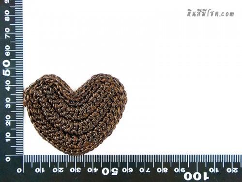 แป้นรูปหัวใจ 4.5 cm สีน้ำตาล
