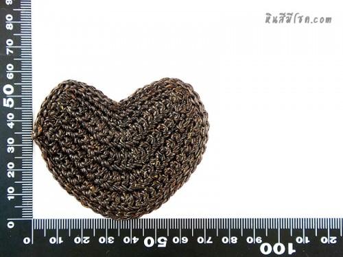 แป้นรูปหัวใจ 5.5 cm สีน้ำตาล