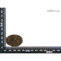 แป้นวงรี  2.5x3.5 cm สีน้ำตาล
