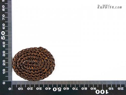 แป้นวงรี  5.2x4 cm สีน้ำตาล