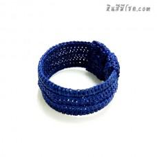 กำไลสปริงเชือกเทียน  1.2 นิ้ว สีน้ำเงิน