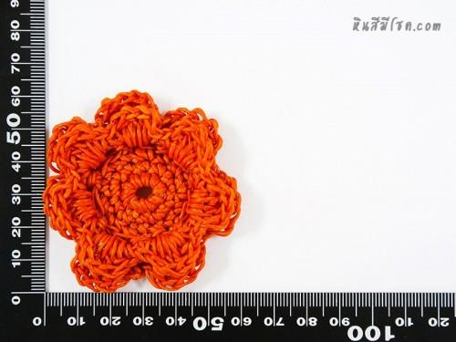 ดอกไม้ 7 กลีบ 2 ชั้น 6 cm สีส้ม