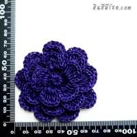 ดอกไม้ 5 กลีบ 3 ชั้น 7 cm สีม่วง