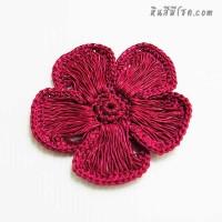 ดอกไม้ 5 กลีบ 9 cm สีบานเย็น
