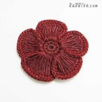 ดอกไม้ 5 กลีบ รูเล็ก 9 cm สีแดง