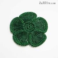ดอกไม้ 5 กลีบ รูเล็ก 9 cm สีเขียว