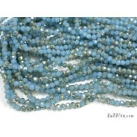 คริสตัลกลม 4 มิล สีฟ้าเหลือบเงิน