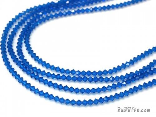 คริสตัลแหลม 4 มิล สีน้ำเงิน