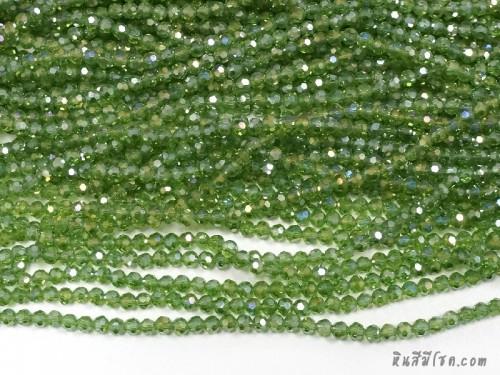 คริสตัลกลม 4 มิล สีเขียวอมเหลือง