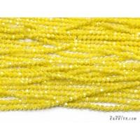 คริสตัลกลม 4 มิล สีเหลืองมัสตาร์ด