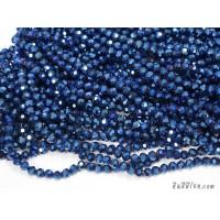 คริสตัลกลม 6 มิล สีน้ำเงินเหลือบ
