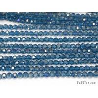 คริสตัลกลม 6 มิล สีน้ำเงินอมฟ้า