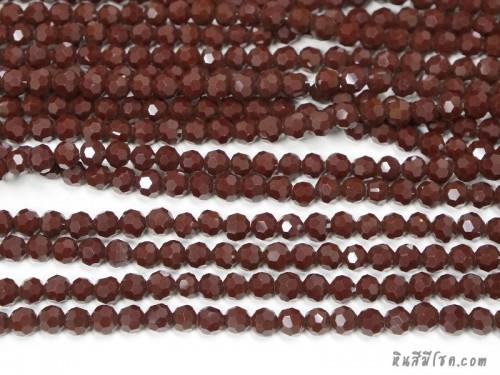 คริสตัลกลม 6 มิล สีแดงเลือดหมู