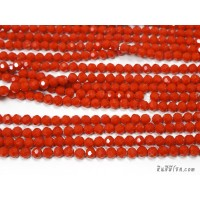 คริสตัลกลม 6 มิล สีส้มทึบ