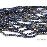 คริสตัลกลม 6 มิล สีน้ำเงิน-สโมกกี้