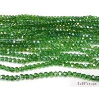คริสตัลกลม 6 มิล สีเขียว