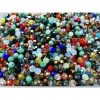 คริสตัล 6 มิล คละสี (100 เม็ด)