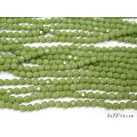 คริสตัลกลม 6 มิล สีเขียวตอง